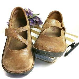Alegria Mary Jane Sparkle Leather Comfort Clog